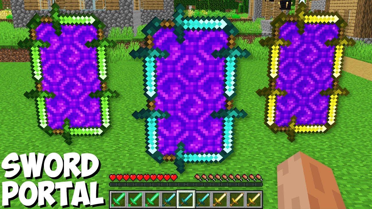 The NEWEST WAY TO BUILD A SWORD PORTAL in Minecraft ! SECRET PORTALS OF SWORDS !