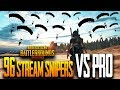 96 STREAM SNIPERS vs PRO PLAYER ft Rolex in PUBG Mobile