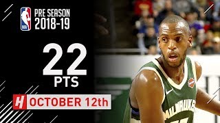 Khris Middleton Full Highlights Timberwolves vs Bucks - 2018.10.12 - 22 Pts, 5 Ast, 5 Reb!