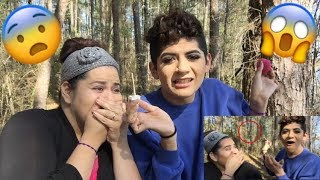 I DID MY MOM'S MAKEUP IN A HAUNTED FOREST!!!