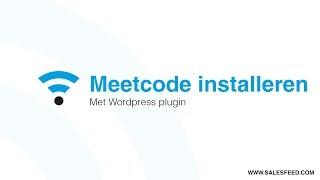 Meetcode installeren met Wordpress plugin