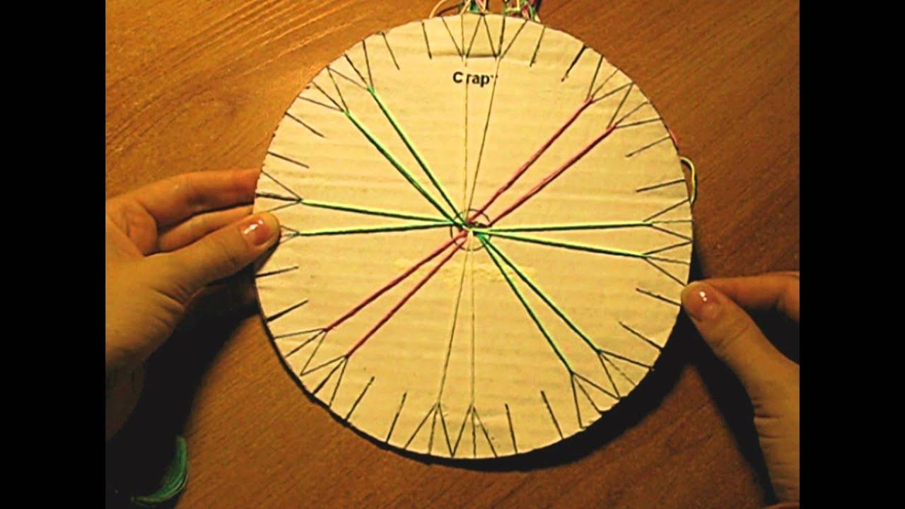 плетение фенечек из 4 ленточек схема круглая