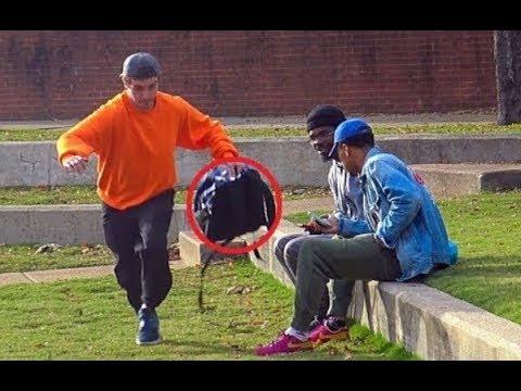 Stealing Peoples Backpack Prank!