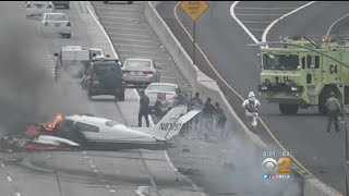 Heroic Efforts To Save Victims Of Plane Crash On 405 Freeway
