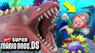 THIS MONSTER LOOKS LIKE A GIANT DIUGH WITH TEETH.. [NEW SUPER MARIO BROS. DS] [#05] thumbnail