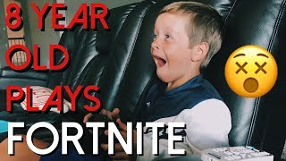 8 YEAR OLD FORTNITE GAMEPLAY