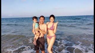 Vũ Thu Phương diện bikini khoe dáng trên bãi biển