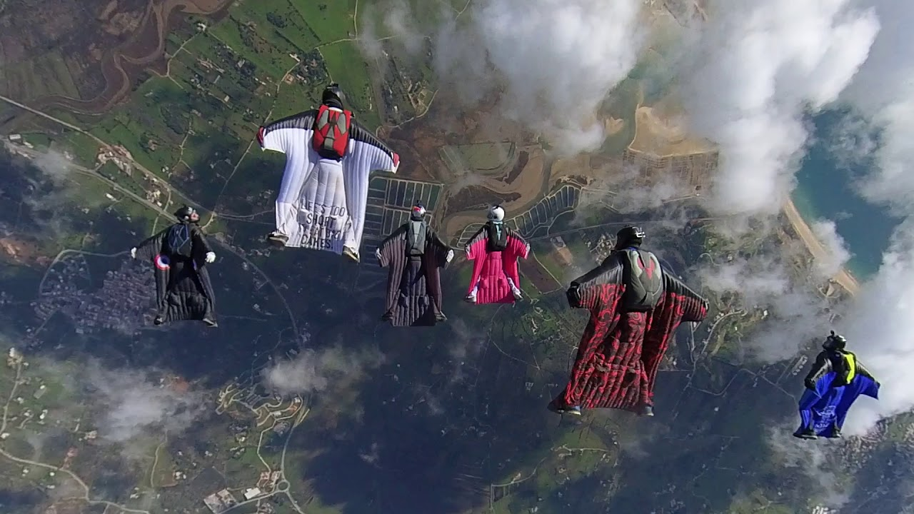 First 2021 wingsuit team Portugal