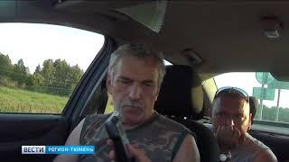 Пьяного до беспамятства водителя фуры остановили на трассе под Тобольском