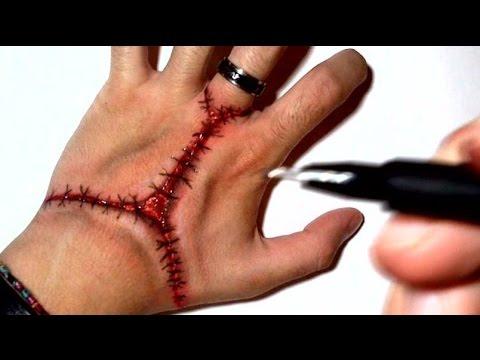 Bloody Stitched - Trick Art Halloween