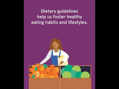 What are food-based dietary guidelines?