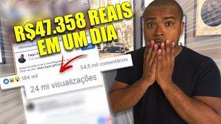 Fiz um Post no Facebook e Ganhei R$ 47.358 reais em um dia |TIAGO FONSECA