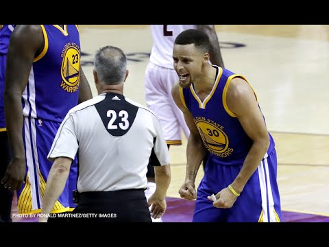 Steph Curry Fights Ref