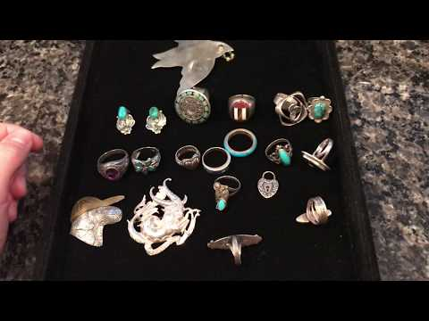 Estate Sale Finds #81- Sterling Silver Jewelry - Native American Jewelry
