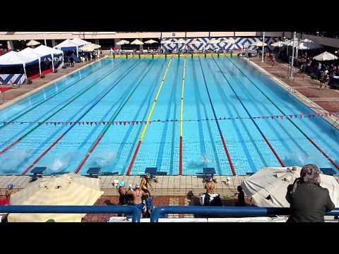 Amina Hany 50 meters free style Cairo Swimming Championship Winter 2014