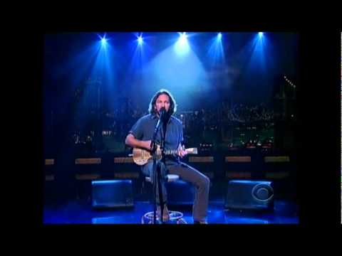 Eddie Vedder Without You - David Letterman 6-20-2011