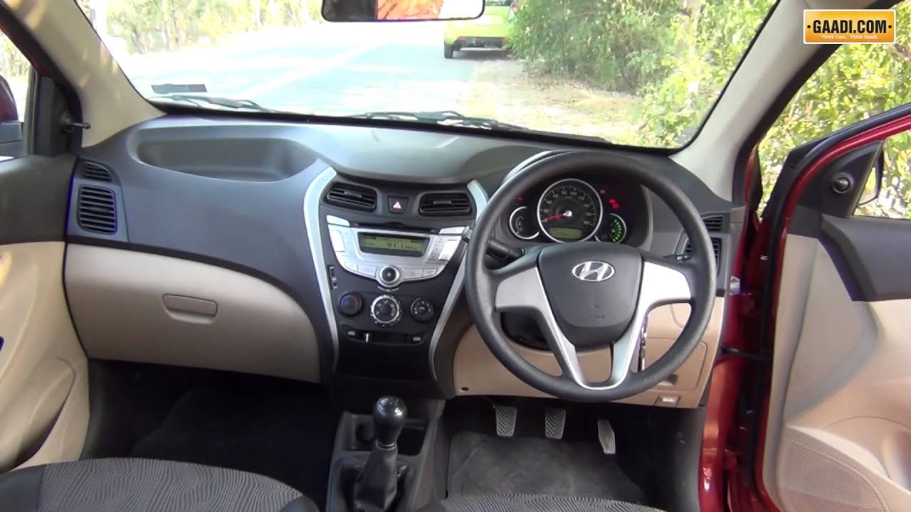 hyundai eon interior review youtube. Black Bedroom Furniture Sets. Home Design Ideas