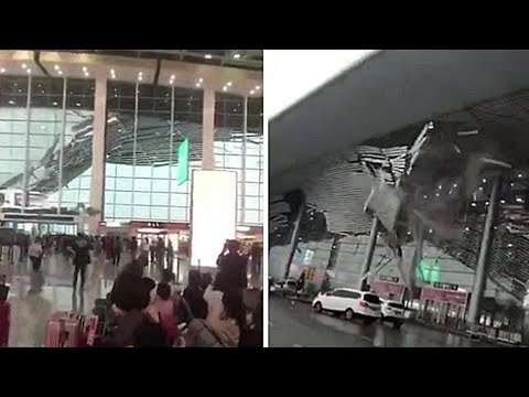Winds rip off China airport roof; China bans Orwell's Animal Farm - 03/07/2018