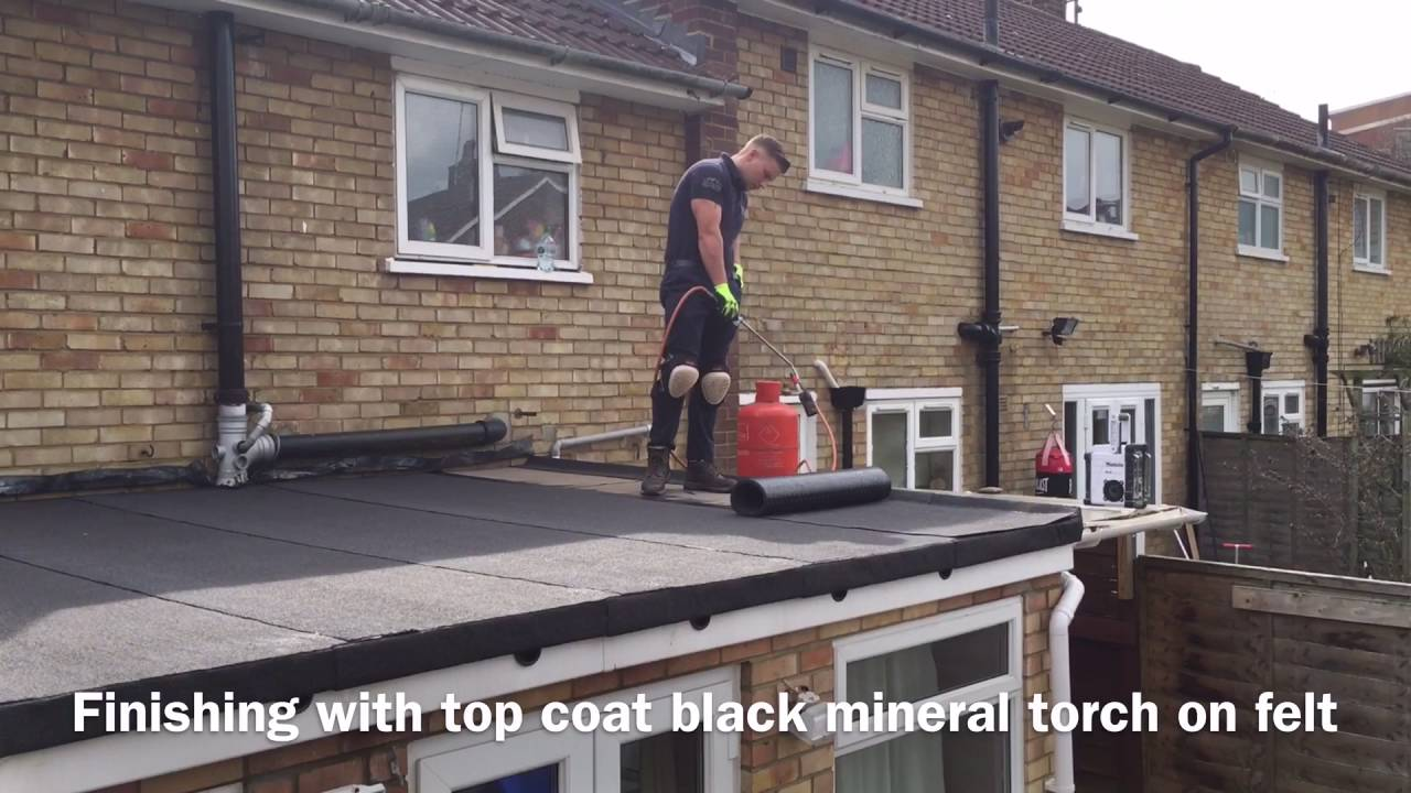 M Amp K Roofing Al74 New Flat Roof Double Layer Black Mineral