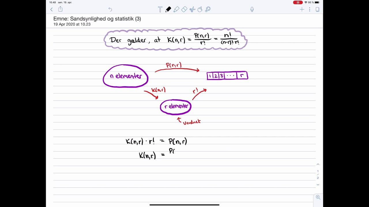 Matematik C og B-niveau Eksamen: Sandsynlighedsregning: Binomialkoefficienten