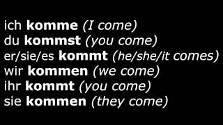 Learn German Verbs - Lesson 16 - kommen (come) - Verben im Präsens (High Quality Audio) 2013