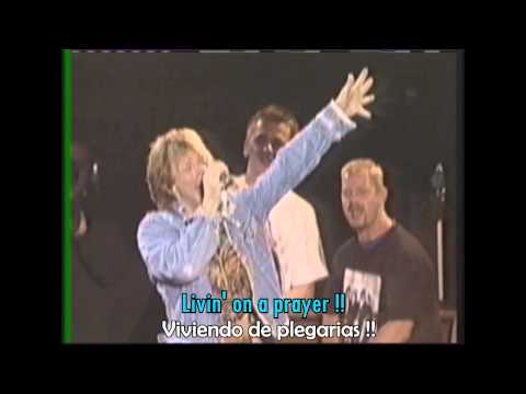 BON JOVI - Livin' on a prayer (lyrics - letra // subtitulado)