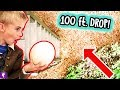 Giant ROTTEN Ostrich Egg Drop From 100 Ft! Watermelon Drop Challenge with HobbyKidsTV