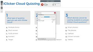Running Quizzes with iClicker Cloud