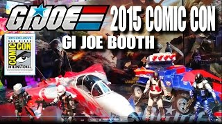 SDCC 2015: G.I. JOE toy preview at the Hasbro booth...knowing is half the battle REAL AMERICAN HERO