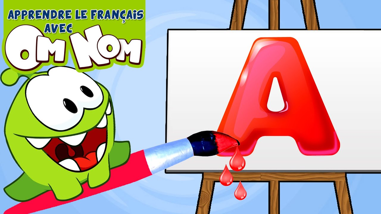 Learn French Alphabets & Basic French Words With Om Nom