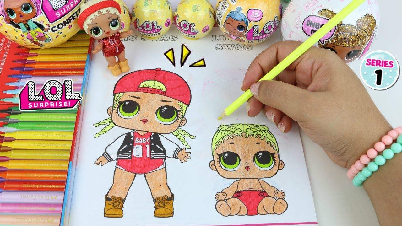 Lol Surprise Doll Colorindo Desenhos Na Revista Lol Surprise Com
