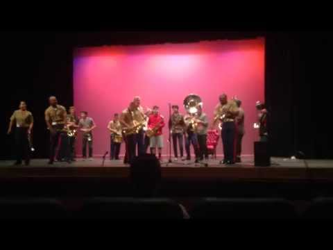 Marine Corps Party Band at Mountain View High School