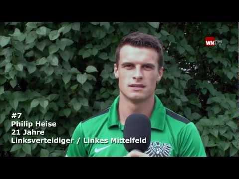 Spielervorstellung Philip Heise vom SC Preußen Münster