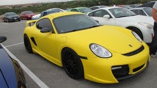 Autotaku - Bright Yellow Tuned Porsche Cayman