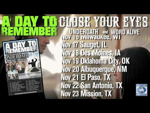 ON TOUR NOW: A Day To Remember / Close Your Eyes / Underoath (Nov. 2010)