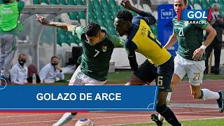 Gol de Juan Carlos Arce, hoy Bolivia vs Ecuador, por Eliminatorias Sudamericanas