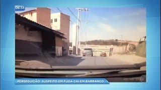 Suspeito cai em barranco durante perseguição policial em Minas Gerais