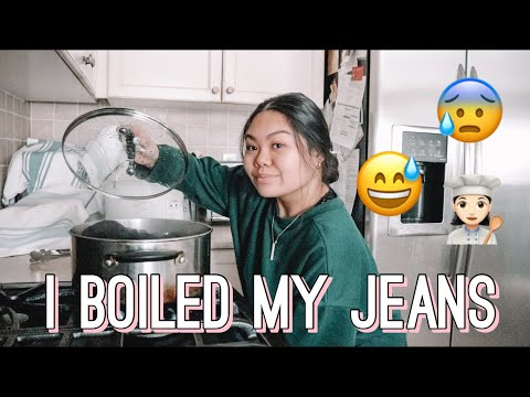I BOILED MY JEANS 😳