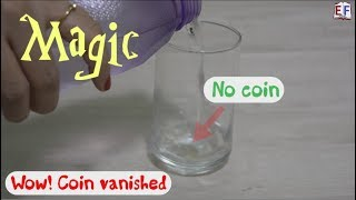 Coin Magic   Make it Appear - Disappear   Physics School Science Experiment Project