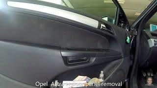 Opel Astra H (2004–2009) door panel removal