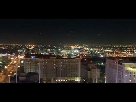 Mystery lights filmed hovering over Las Vegas
