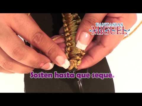 Como Hacer Unas Sandalias Con Flor Dorada - YouTube