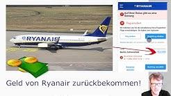 Ryanair Geld zurück statt Gutschein - Rückerstattung einfach erklärt!