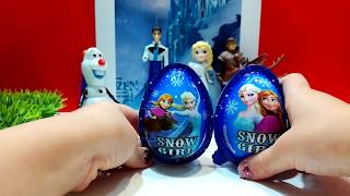 Disney Frozen Queen Elsa + Princess Anna + Kristoff - TOY SURPRISE EGGKinder Surprise Eggs