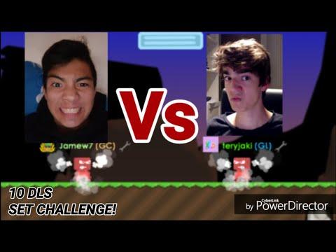 TERY VS JAMEW7 ( 10 DLS Set Challenge ) - Growtopia