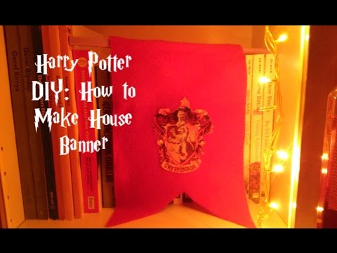 Harry potter house banners diy
