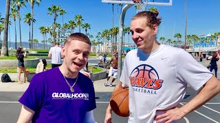 The Professor Coached Me vs Trash Talking Hoopers At Venice Beach and THIS Happened!