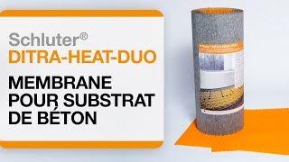 Comment installer un plancher chauffant électrique sur du béton : Schluter®-DITRA-HEAT DUO