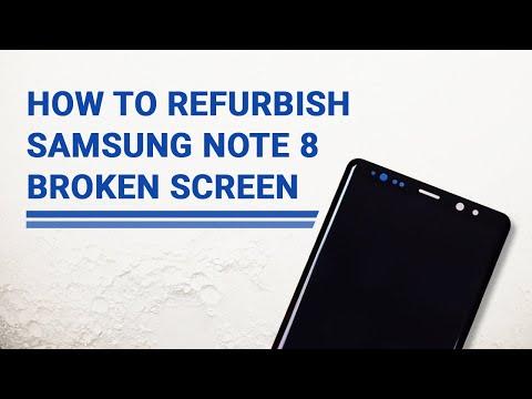 How to Repair Samsung Note 8 Broken Glass   Screen Refurbish Guide