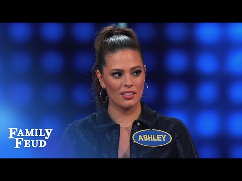 Ashley Graham's TP tip...   Celebrity Family Feud